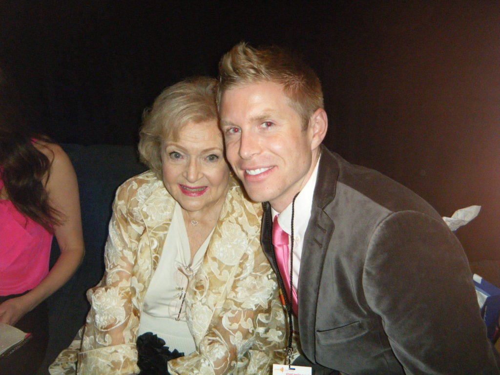 Golden Girls Betty White with Financial Planner LA David Rae