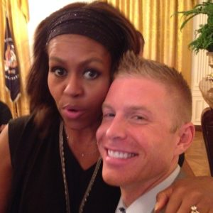 David Rae with Michelle Obama at the White House