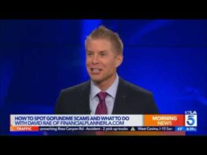 Financial Planner David Rae help KTLA News avoid GoFundMe Fraud