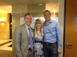 Bravo Newlyweds Financial Planner David Rae with Erik and Nadine